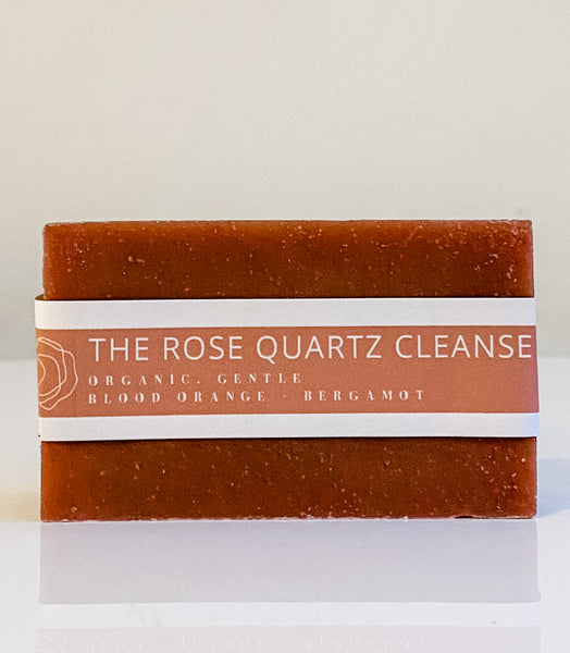 organic rose quartz bar soap