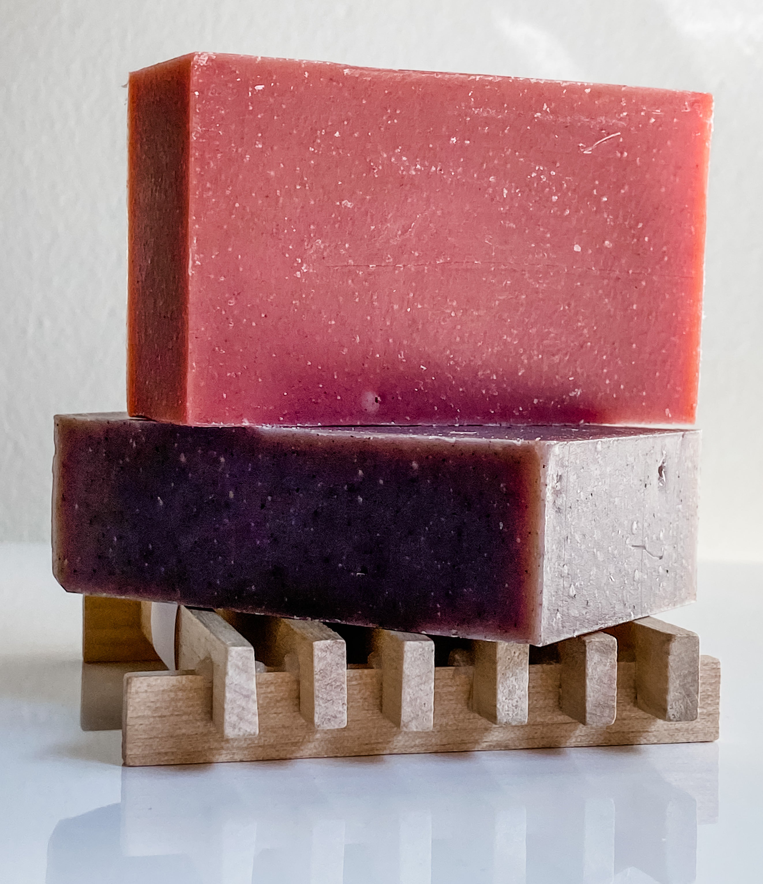 natural wooden soap tray to keep it dry