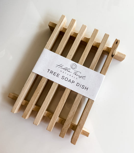 natural wooden soap tray