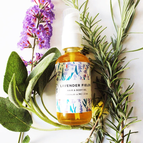 Lavender Fields Hair & Body Oil - shop now at be pure