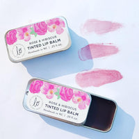Rose & Hibiscus Tinted Lip Balm - shop now at be pure