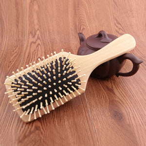 Professional Wood Paddle Hairbrush - shop now at be pure