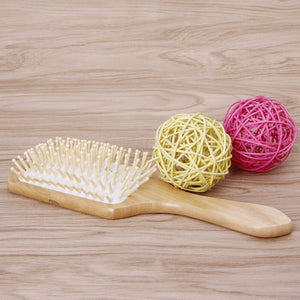 Professional Wood Paddle Hairbrush - be pure beauty