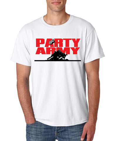 """Party Army"" White T-shirt"