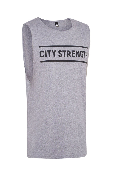 City Strength Tank Grey Marle