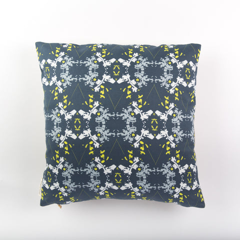 Blackish Magic Pillow (Midnight/Chartreuse)