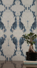 eco friendly blue and white wallpaper