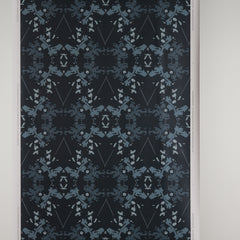 eco friendly navy indigo wallpaper