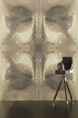 eco friendly light bronze lunar inspired Luna wallpaper by elworthy studio printed in the usa