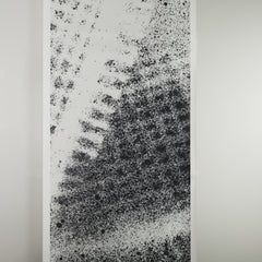eco friendly textural black and white mural wallpaper