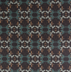 eco friendly black gray teal graphic fabric made in usa