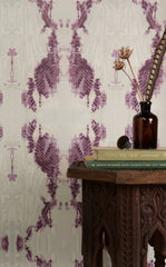 eco friendly mauve textural wallpaper made in usa