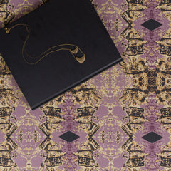 eco friendly purple gold black textiles made in usa