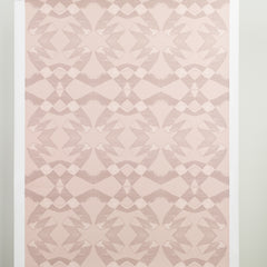 eco friendly blush pink geometric wallpaper made in usa