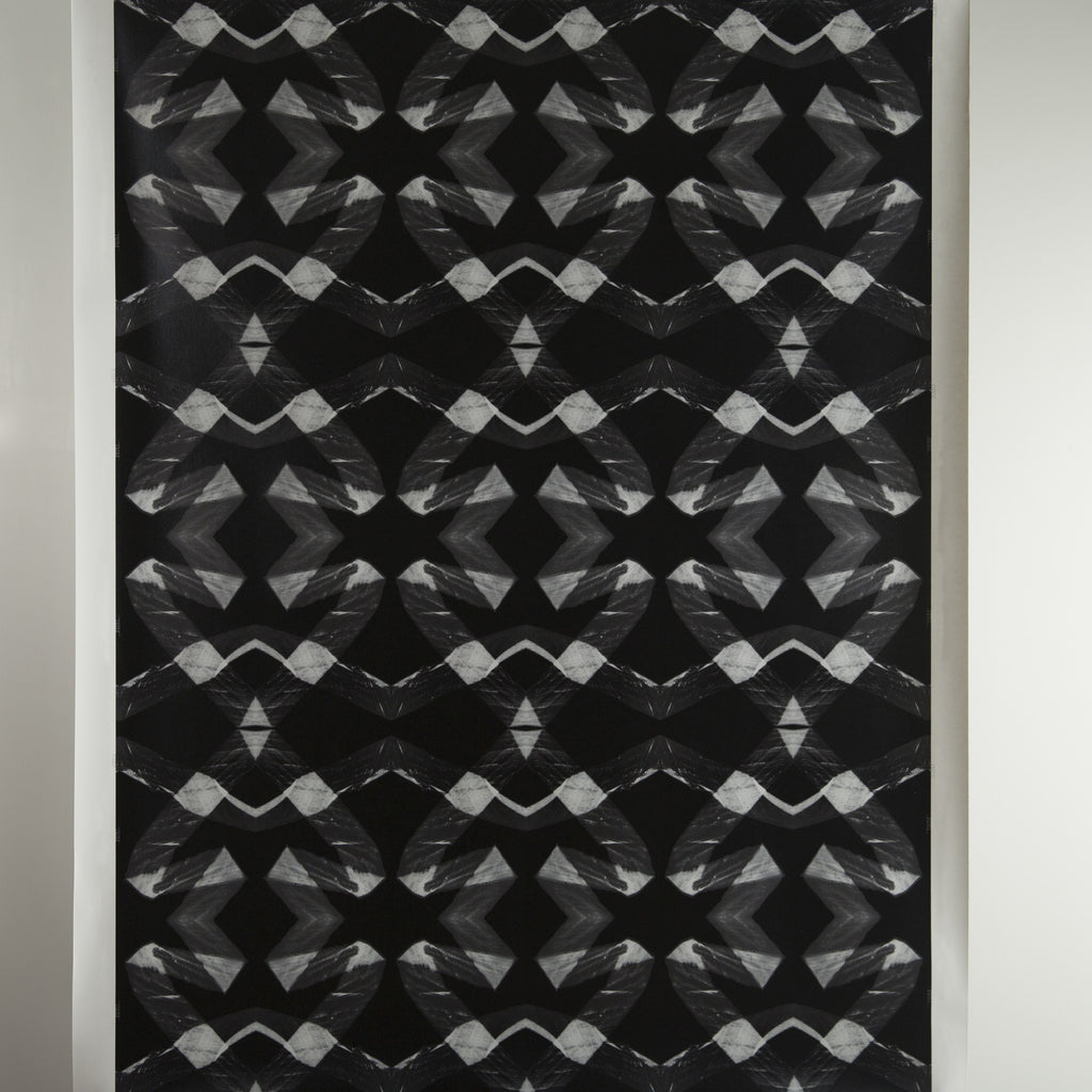 eco friendly black white geometric wallpaper made in usa