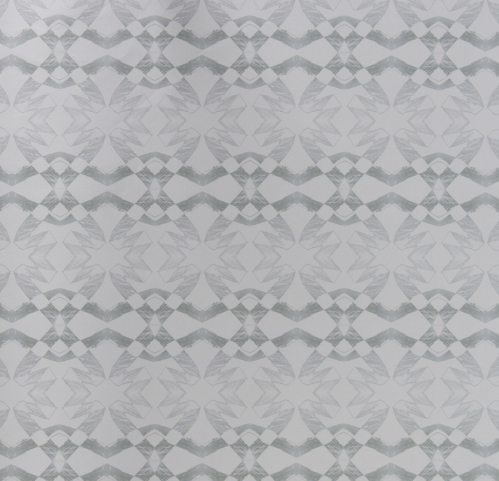 eco friendly modern edgy gray geometric fabric Lucina by elworthy studio