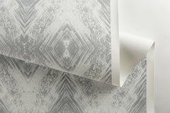 eco friendly silver white metallic wallpaper made in usa