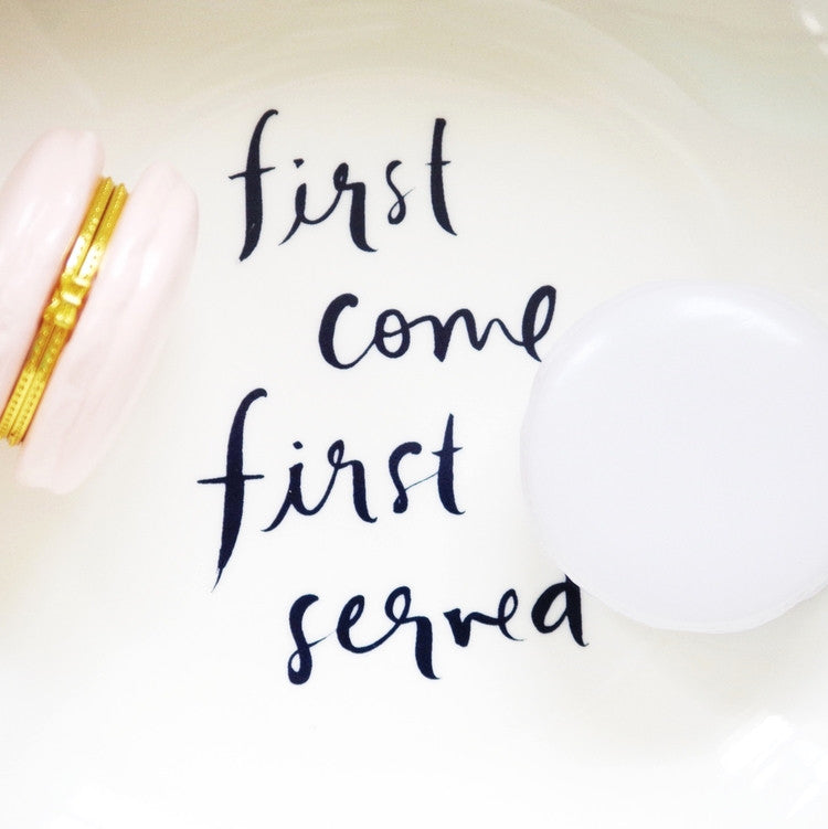 "Kate Spade: ""First come First served"" Salad Bowl"