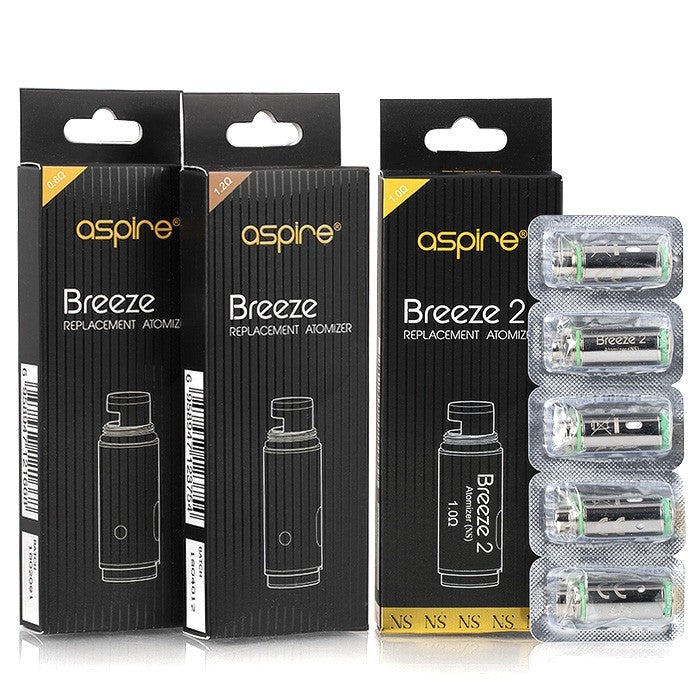 ASPIRE BREEZE 2 REPLACEMENT COILS - yougotejuice.com