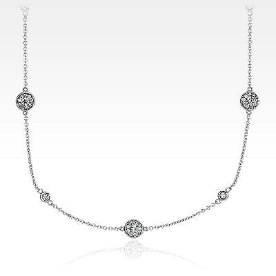 Monique Lhuillier Fancies by the Yard Necklace in 18k White Gold
