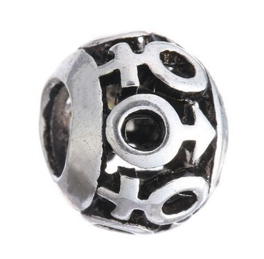Authentic Lenora Silver Openwork Boys & Girls European Charm Bead