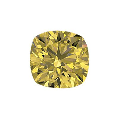 1.12-Carat Yellow Cushion Cut Diamond