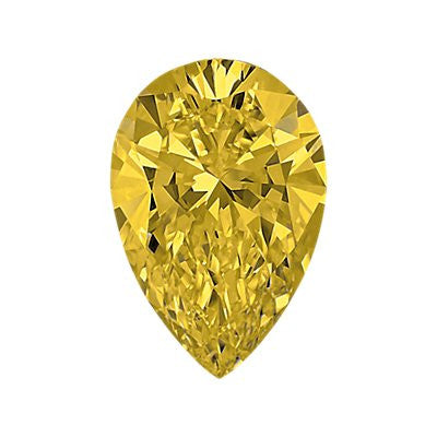 0.60-Carat Intense Yellow Pear Shaped Diamond