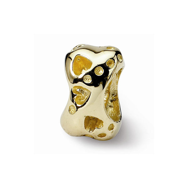 NEW ARRIVAL 14k Gold Reflections Dog Bone Bead