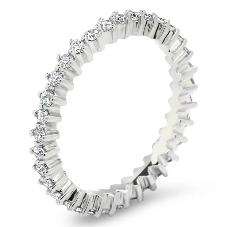 Diamond Eternity Wedding Band - Star - Moissanite Rings