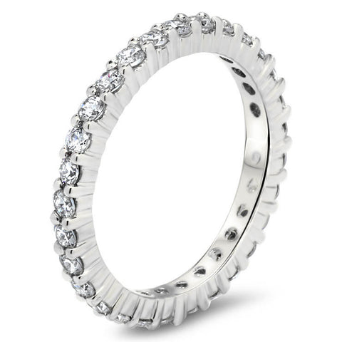 Diamond Eternity Wedding Band -  Sugar - Moissanite Rings