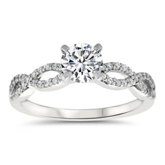 Celebration Matching Set - Moissanite Rings