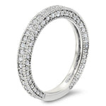 Antique Look Diamond Wedding Band - Erin Band - Moissanite Rings
