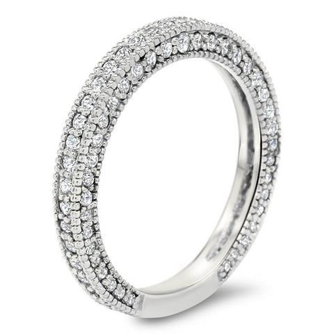 Antique Look Diamond Wedding Band - Erin Band