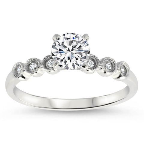 Dainty Moissanite Diamond Engagement Ring - Cara - Moissanite Rings
