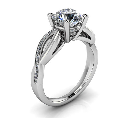 Infinity Shank Moissanite Engagement Ring - Kansas - Moissanite Rings