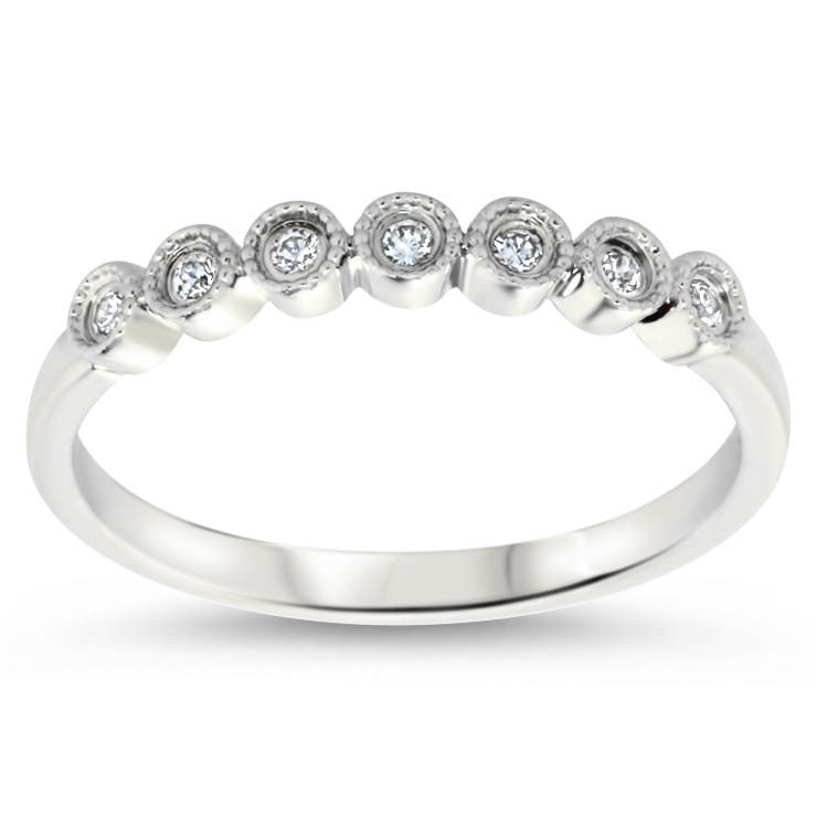 Diamond Wedding Band - Cara Band - Moissanite Rings