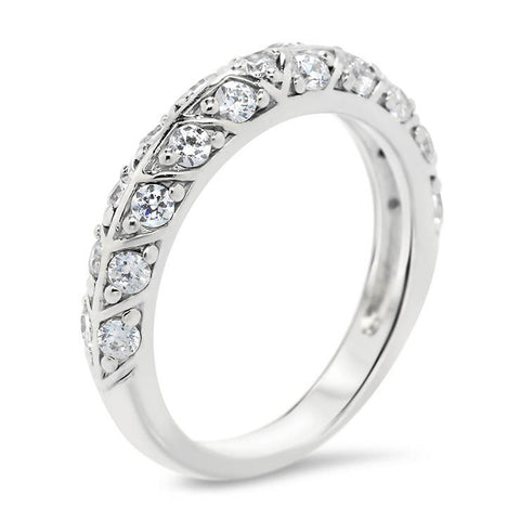 Unique Diamond Wedding Band - Branch Band - Moissanite Rings