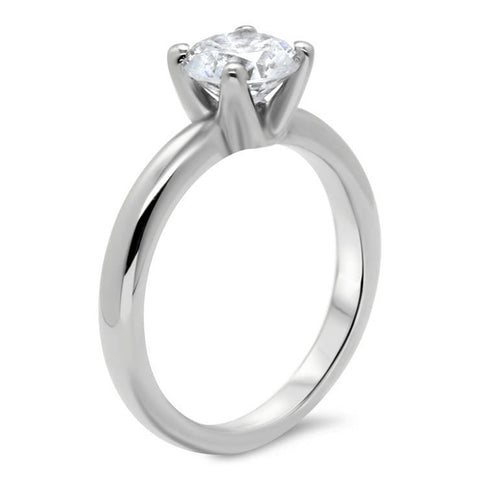 Forever One Solitaire Moissanite Engagement Ring - Farrah - Moissanite Rings
