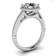 Diamond Setting 8mm Moissanite Engagement Ring Six Prong - Violetta - Moissanite Rings