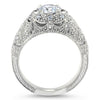 Edwardian Style Engagement Ring - Amelia - Moissanite Rings