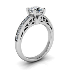 Moissanite Engagement Ring Diamond Setting - Camila - Moissanite Rings