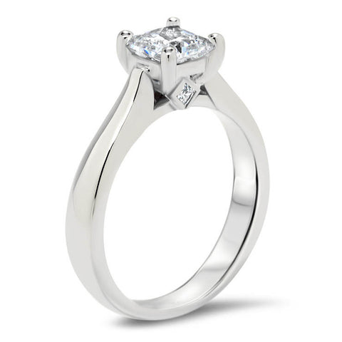 Princess Cut Solitaire Moissanite Engagement Ring - Nicolette - Moissanite Rings