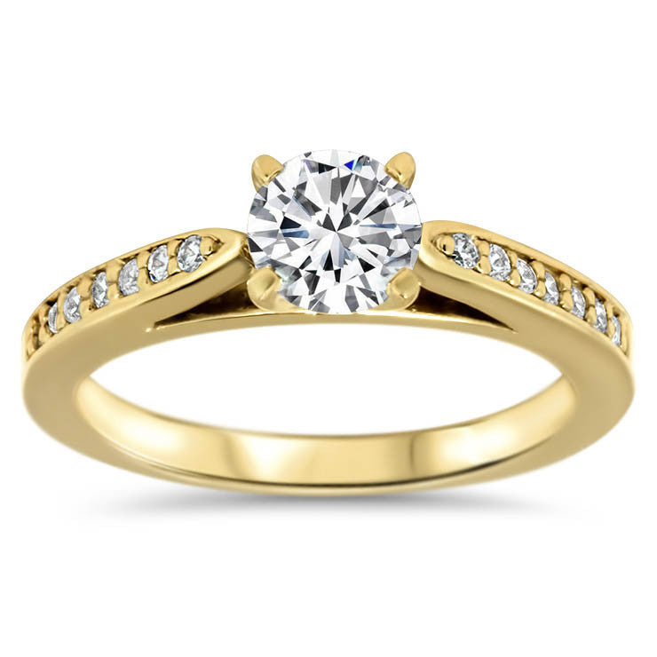 Moissainite Center Engagement Ring Diamond Setting - Gabriella - Moissanite Rings