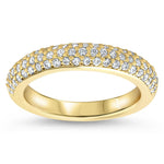 Diamond Pave Wedding Band - Pip Band - Moissanite Rings