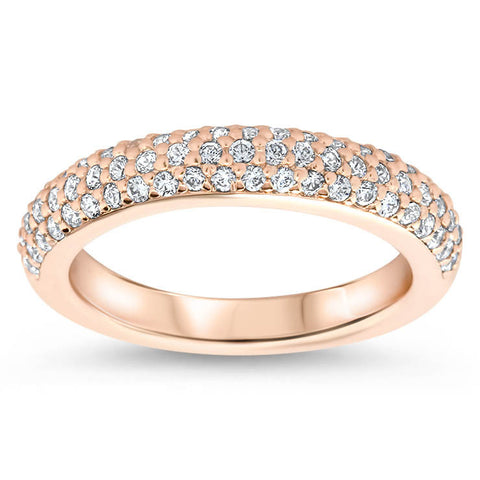 Diamond Pave Wedding Band - Pip Band