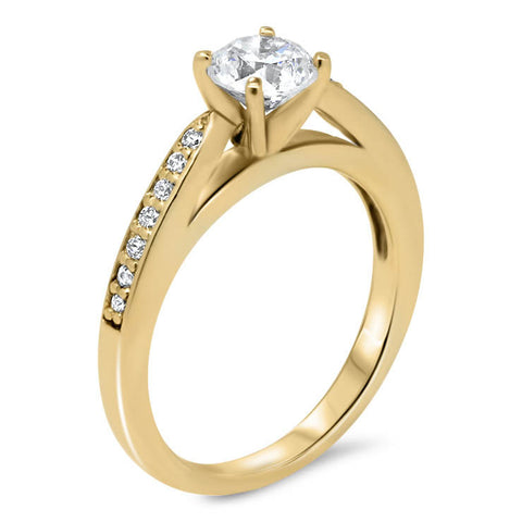 Moissanite Center Engagement Ring Diamond Setting - Gabriella - Moissanite Rings