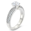 Diamond Pave Engagement Ring Forever One Moissanite Center -  Pip - Moissanite Rings