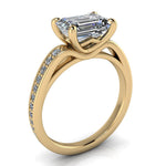 Emerald Cut Engagement Ring Diamond Setting - Esme - Moissanite Rings
