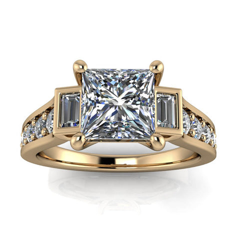 Copy of Modern Engagement Ring - Amsterdam Square - Moissanite Rings