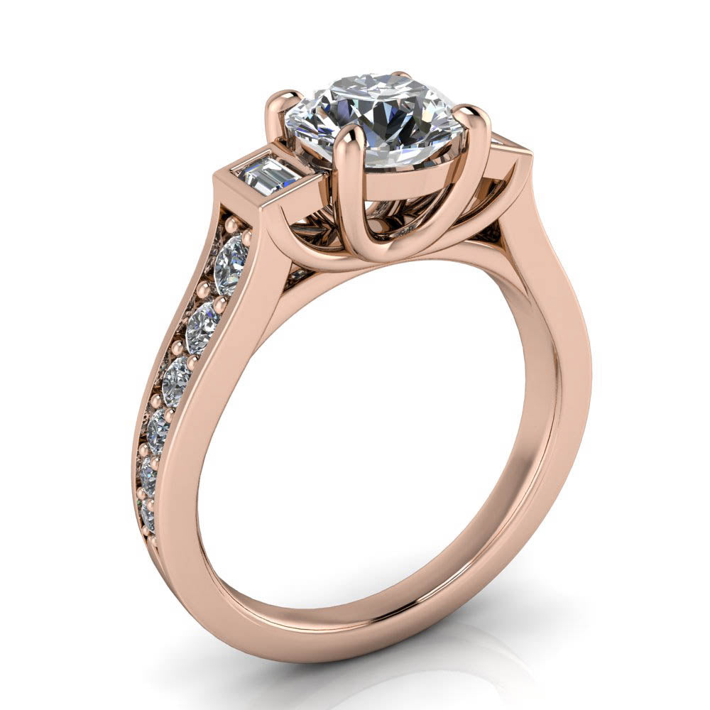 bypass rings modern engagement band ring me micropave cut round in shadow micropav diamond platinum